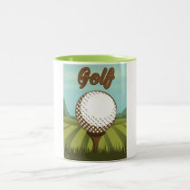 Golf vintage style poster