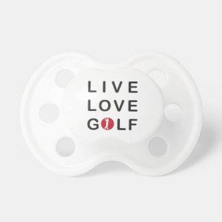 Golf vivo del amor Golfing negro rojo Chupete De Bebe