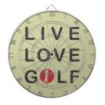 Golf vivo del amor Golfing negro rojo Tablero De Dardos