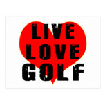 Golf vivo del amor postal
