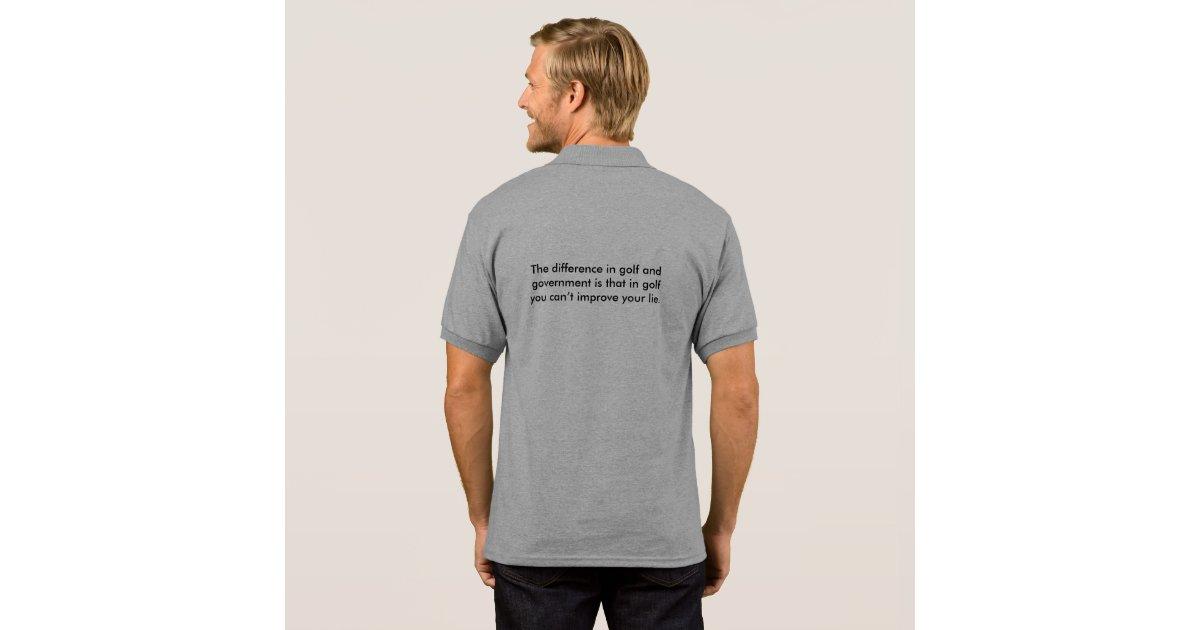 Golf vs government funny saying teeshirt polo shirt zazzle for Golf shirt vs polo shirt