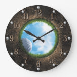 Golf Wall Clock at Zazzle