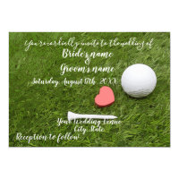 Golf Wedding Invitation card with golf ball