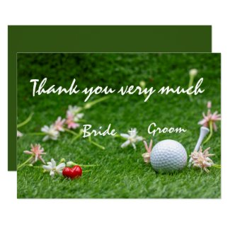 Golf Wedding thank you card