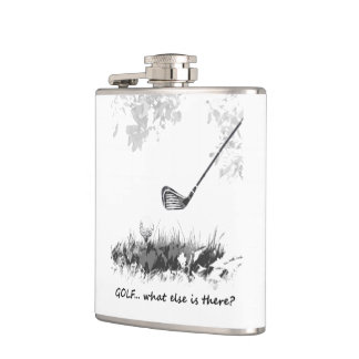 Golf What else is There Fun Golfer Quote Hip Flask