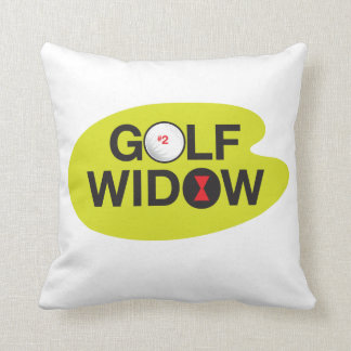 Golf Widow Badge of Honor_Black Widow Spider Tees Throw Pillow