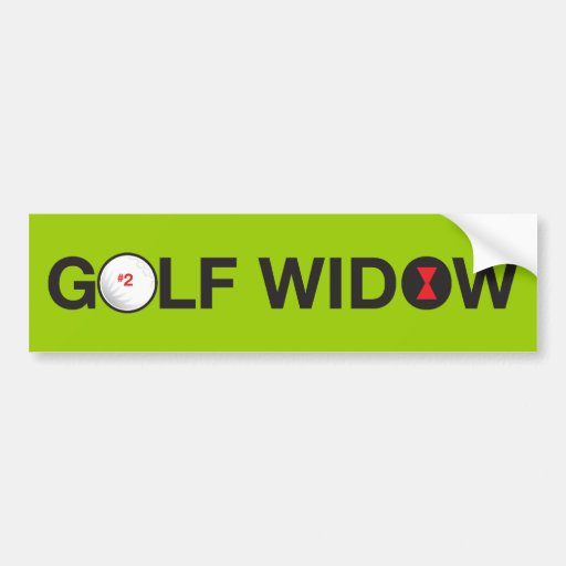 Golf Widow_Badge of Honor_on the green Bumper Sticker