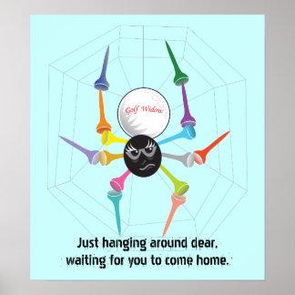 Golf Widow Black Widow Spider Tees #2 Poster