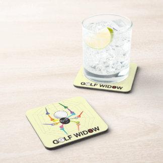 Golf Widow Black Widow Spider Tees Beverage Coaster