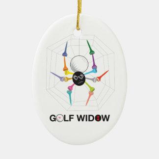 Golf Widow Black Widow Spider Tees_personalized Ceramic Ornament