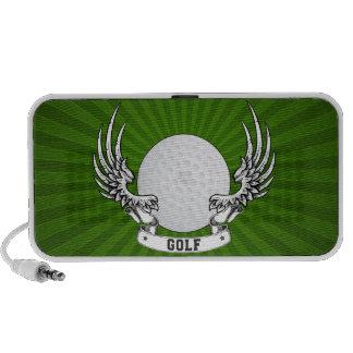 Golf Wings Doodle Notebook Speaker