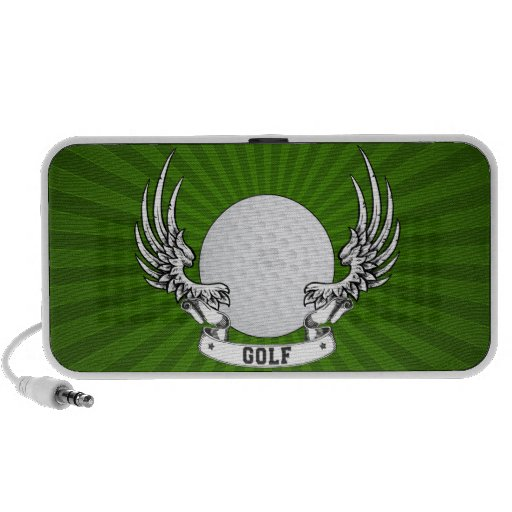 Golf Wings Doodle Travelling Speaker