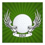 """Golf Wings Invitation 5.25"""" Square Invitation Card"""