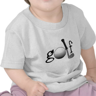 Golf with Club and Ball Tee Shirts