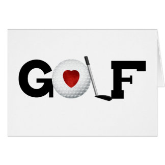 Golf with Golf Ball Greeting Card