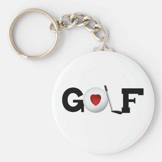 Golf with Golf Ball Keychain