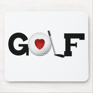 Golf with Golf Ball Mouse Pad