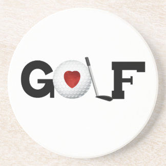 Golf With Golf Ball Tshirts and Gifts Coaster