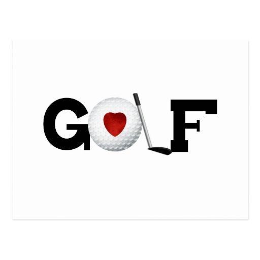 Golf With Golf Ball Tshirts and Gifts Post Card