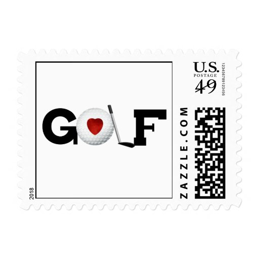 Golf With Golf Ball Tshirts and Gifts Stamp
