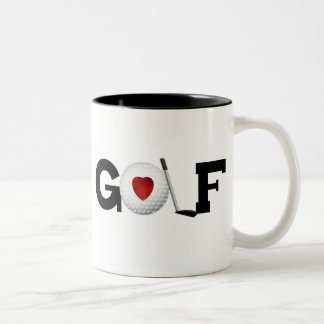 Golf with Golf Ball Two-Tone Coffee Mug