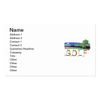 Golf With Golf Carts Tshirts and Gifts Business Card