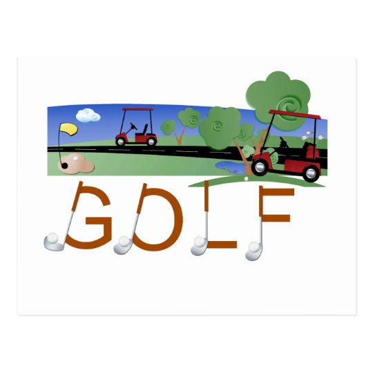 Golf With Golf Carts Tshirts and Gifts Postcard