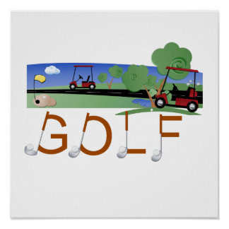 Golf With Golf Carts Tshirts and Gifts Poster