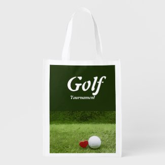 Golf with love Golf tournament Grocery Bag