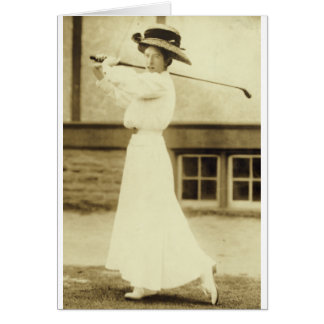 GOLF WITH STYLE! - 1908 Women's Golf Champion Card