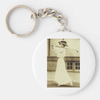 GOLF WITH STYLE! - 1908 Women's Golf Champion Keychain