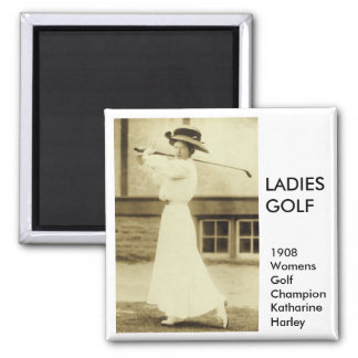 GOLF WITH STYLE! - 1908 Women's Golf Champion Fridge Magnets
