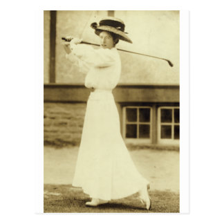GOLF WITH STYLE! - 1908 Women's Golf Champion Postcard