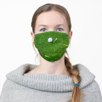 Golf with tee face mask