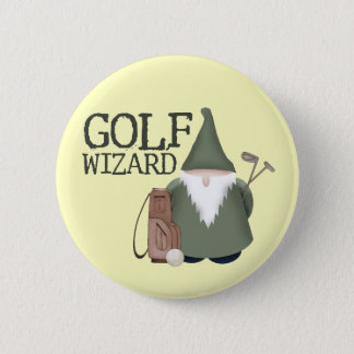 Golf  Wizard Pinback Button