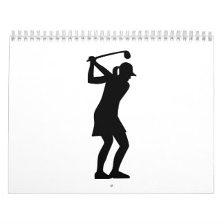 Golf woman calendars