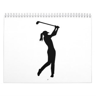 Golf woman girl calendar