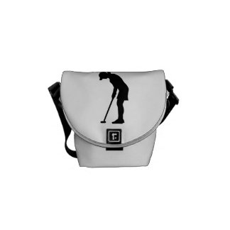 Golf woman girl courier bag