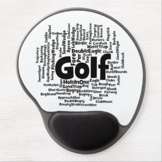 Golf Word Cloud Gel Mouse Pad