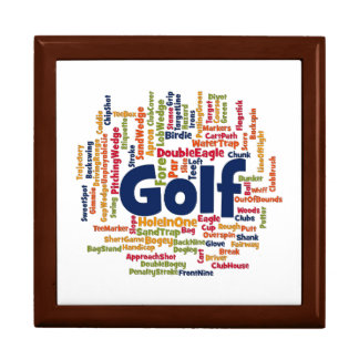 Golf Word Cloud Keepsake Box