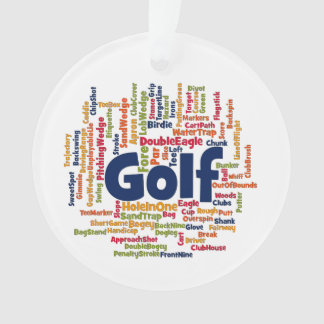 Golf Word Cloud Ornament