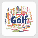Golf Word Cloud Square Sticker