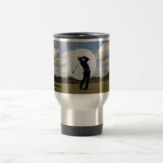 Golf World 15 Oz Stainless Steel Travel Mug