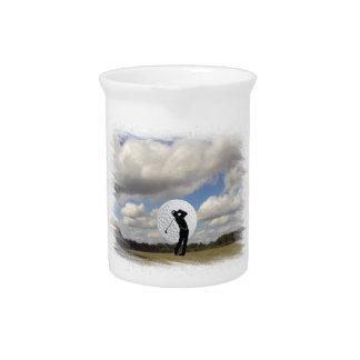 Golf World Beverage Pitcher