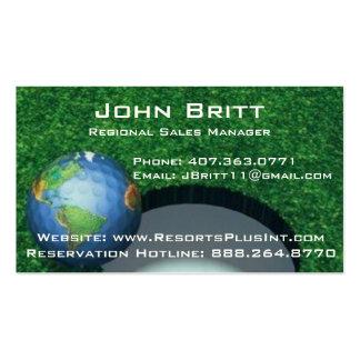 GOLF WORLD BUSINESS CARD TEMPLATE