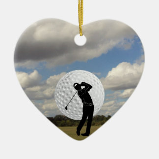 Golf World Ceramic Ornament