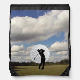 Golf World Drawstring Backpack