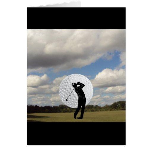 Golf World Greeting Card