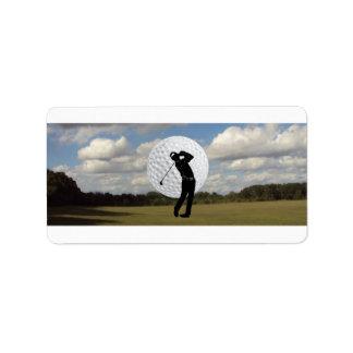 Golf World Address Label