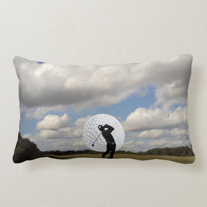 Golf World Lumbar Pillow